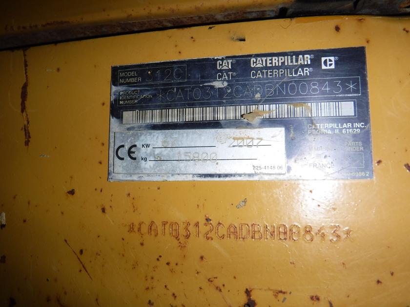 2007 Caterpillar 312C